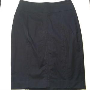 Ann Taylor NWT Astor Pencil Skirt Size 2 Navy